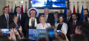 Premier Rachel Notley at Nov 22, 2015 news conference to announce a new climate policy. Dave Cournoyer / daveberta.ca